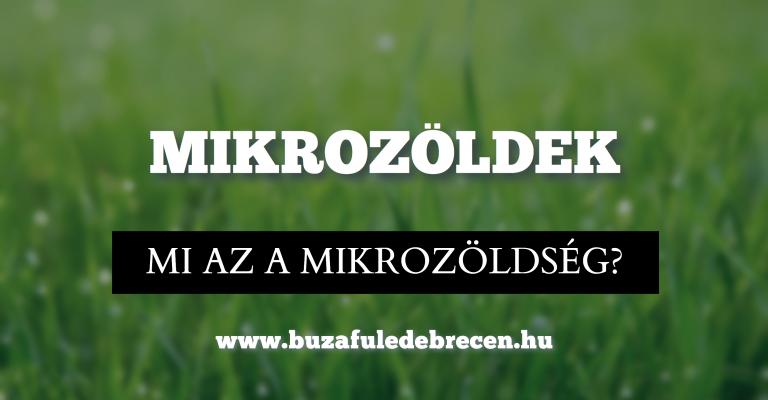 Mi is a mikrozöldség?
